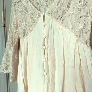 Baby Pink, lace, babydoll dress